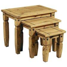 Rustic Corona 3 Piece Nest of Tables