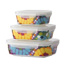 Bindi Porcelain 3 Container Food Storage Set