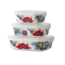 Gala Porcelain 3 Container Food Storage Set