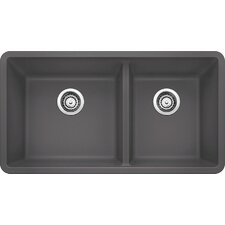"Precis 33"" x 18"" Undermount Kitchen Sink"