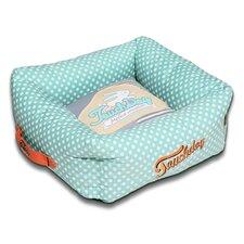 Polka-Striped Polo Easy Wash Squared Fashion Dog Bed
