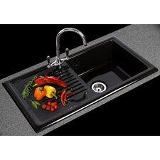 61.5cm x 49cm Kitchen Sink with Taps