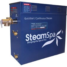 Royal 12 kW QuickStart Steam Bath Generator Package with Built-in Auto Drain by Steam Spa