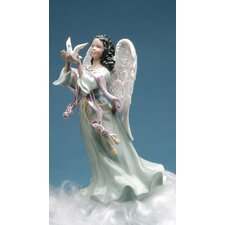 African Angel with Dove Music Box Figurine