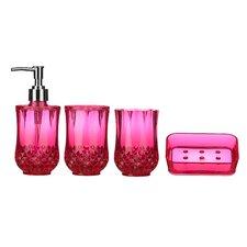 Cristallo 4-Piece Bathroom Accessory Set