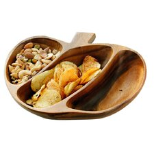 Acacia 28cm Wood 3 Section Serving Dish