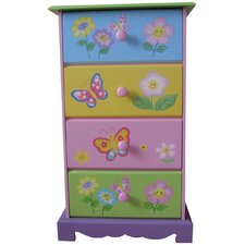 Butterfly Garden 4 Drawer Chest of Drawers