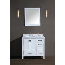 "Bella 42"" Single Bathroom Vanity Set with Mirror"