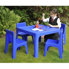 Children's 5 Piece Square Table and Chair Set