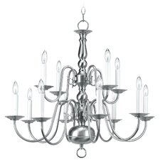 Allensby 12-Light Nickel Candle-Style Chandelier