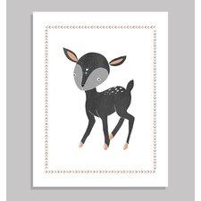 Boho Deer Paper Print