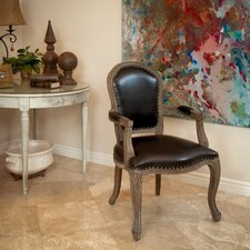 Carolina Leather Weathered Wood Armchair by Home Loft Concepts