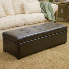 Batesville Leather Storage Ottoman by Andover Mills
