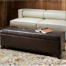 Tarrison Leather Storage Ottoman by Home Loft Concepts