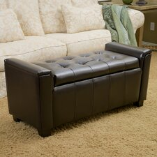 Kate Tufted Leather Storage Ottoman by Home Loft Concepts