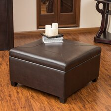 Bostonian Leather Storage Ottoman by Home Loft Concepts