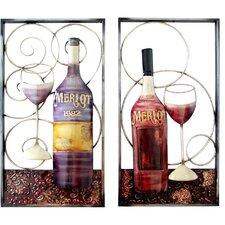 2 Piece Wine Themed Wall Décor Set