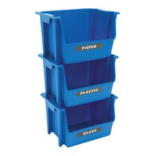 Nesting Stacking Multi Compartments Recycling Bin