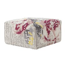 Canevas Square Flowers Ottoman by GAN RUGS