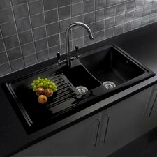 101cm x 52.5cm 1 1/2 Inset Kitchen Sink with Tap