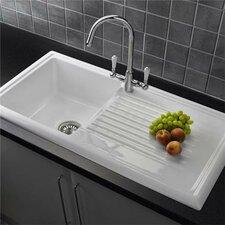 101.5cm x 52.5cm Inset Kitchen Sink with Taps