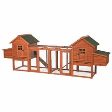 Duplex Chicken Coop with Outdoor Run by Trixie Pet Products