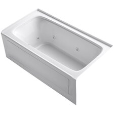 Bancroft Alcove Whirlpool Bath with Tile Flange, Right-Hand Drain and Bask Heated Surface by Kohler