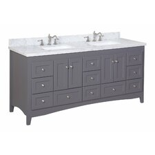 Abbey 72 Double Bathroom Vanity Set by Kitchen Bath Collection