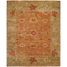 Longview Hand-Knotted Orange/Brown Area Rug