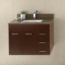Bella 31 Single Wall Mount Bathroom Vanity Set by Ronbow