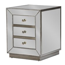 Baxton Studio 3 Drawer Nightstand by Wholesale Interiors