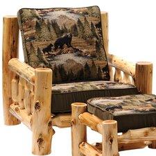 Cedar Armchair and Ottoman by Fireside Lodge