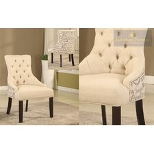 Natural Fabric Side Chair (Set of 2) by BestMasterFurniture
