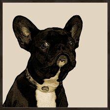 """Doggy Portrait B"" Framed Graphic Art"