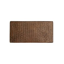 """3"""" x 6"""" Hammered Copper Tile in Oil Rubbed Bronze (Set of 8)"""