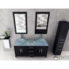 Silkroad Hyp 0908 77 Modern Double Bathroom Vessel Sink