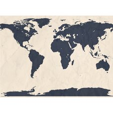 World Atlas Map Wall Mural