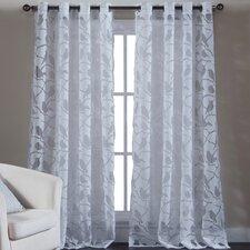Jaye Nature / Floral Sheer Grommet Single Curtain Panel