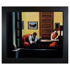 'Room in New York' by Hopper Framed Painting Print