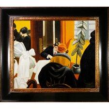 New York Restaurant by Edward Hopper Framed Painting Print