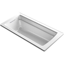 Archer Drop-in Vibracoustic Bath with Reversible Drain by Kohler