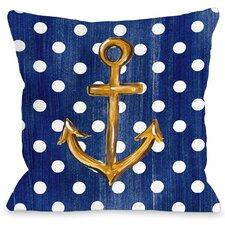 Anchor Dots Throw Pillow