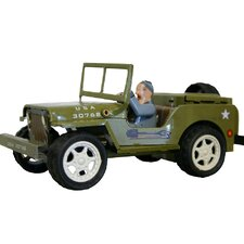 Collectible Tin Toy Model Jeep Car