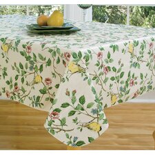 "Serene Morning 84"" Oval Vinyl Tablecloth"