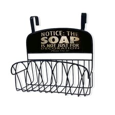 Soap Is Not Just for Decoration Over the Door Organizer