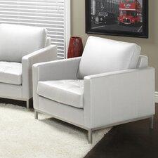 Regency Top Grain Leather Armchair by Lind Furniture