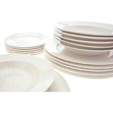 White Basics York 18 Piece Dinnerware Set, Service for 6