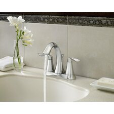 Eva Two Handle Centerset Bathroom Faucet with Pop-Up Drain