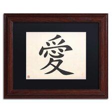 Love - Horizontal White Framed Textual Art by Trademark Fine Art