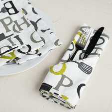 Chef Print Cotton Napkin (Set of 4)